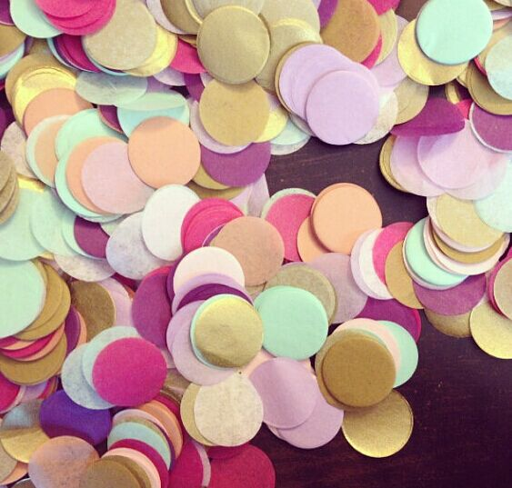 eco friendly assorted color paper confetti