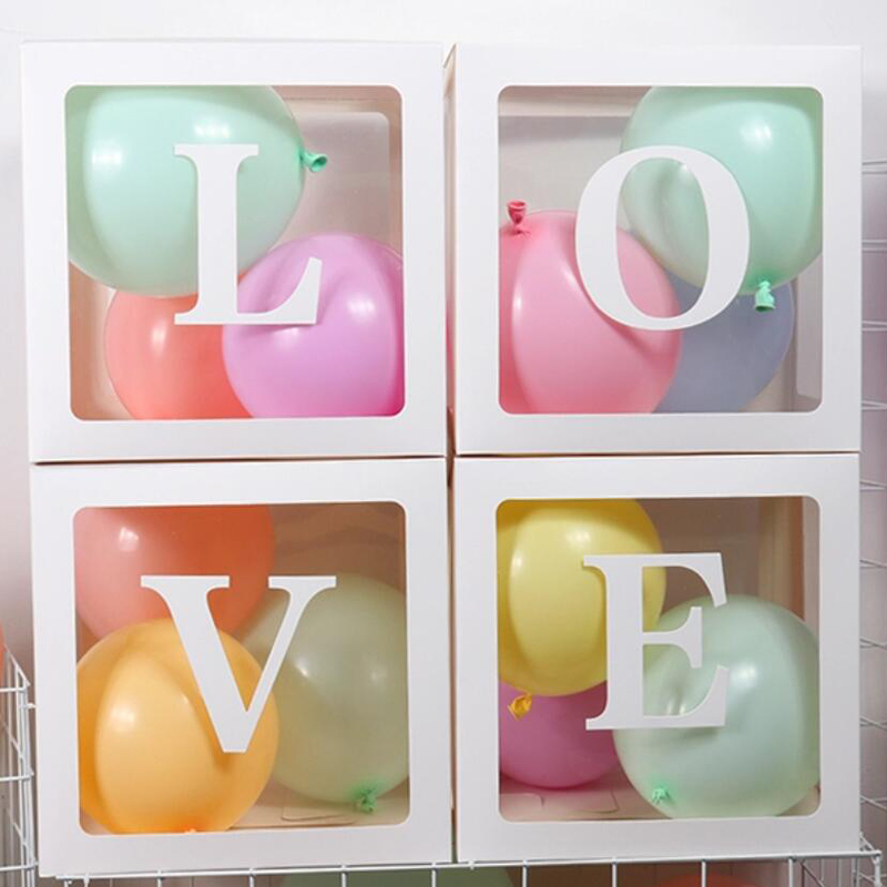 transparent balloon decorations boxes