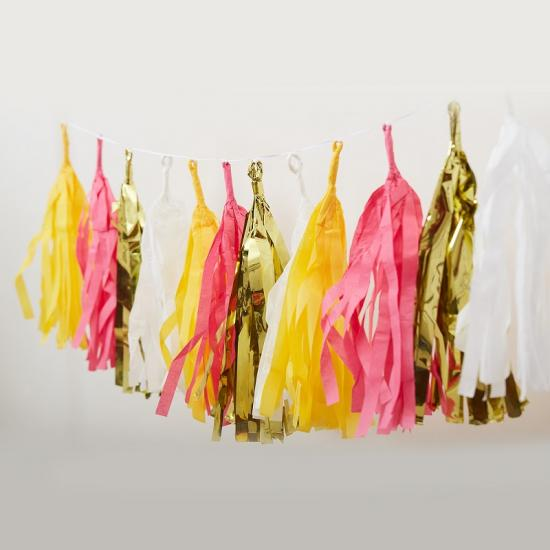 tissue paper tassel garland wholesale