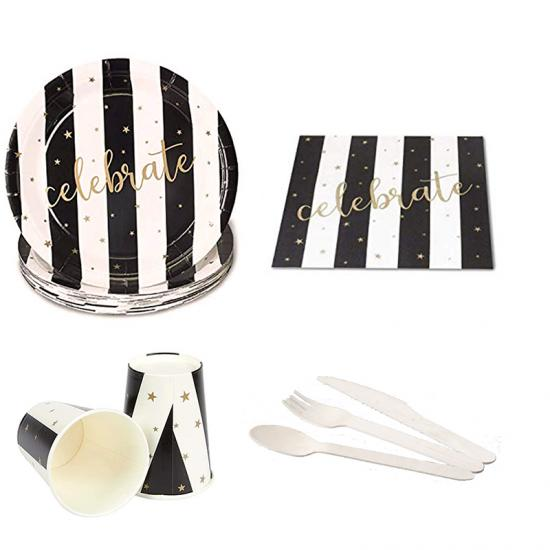 birthday paper tableware set