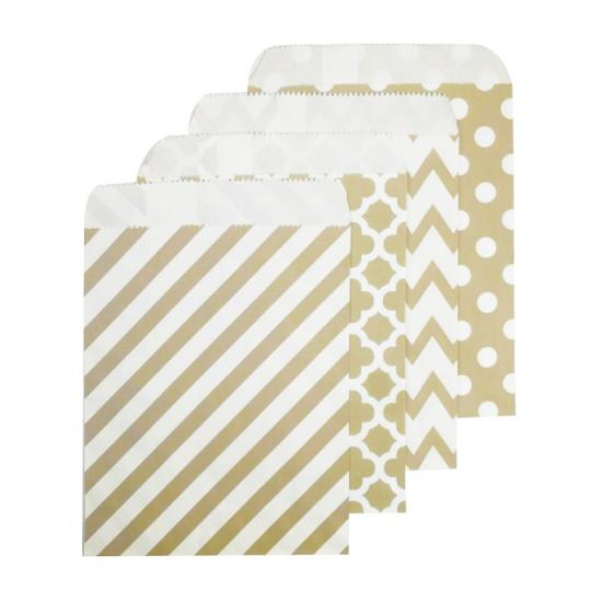 Wholesale striped candy paper bags