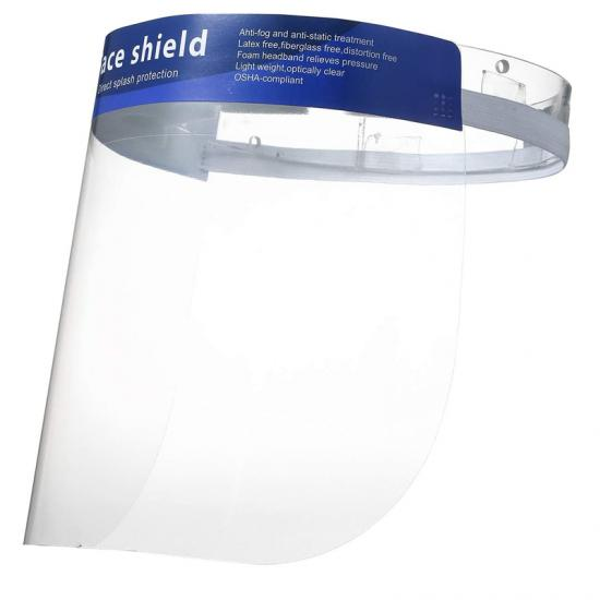 transparent protective face shield
