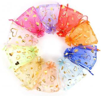 Cheap gift organza pouch bag wholesale